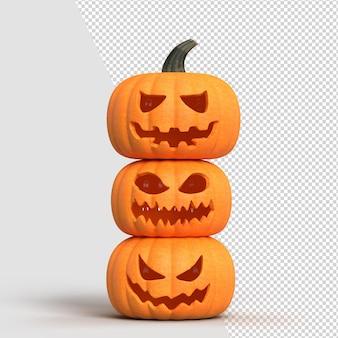 Halloweenowa makieta tła z baniami. makieta koncepcji halloween