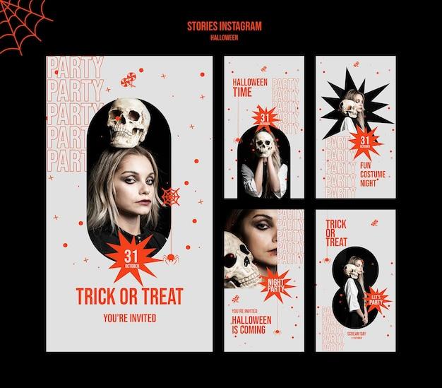 Halloweenowe historie w mediach społecznościowych ze zdjęciem