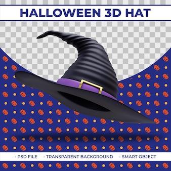 Halloweenowy kapelusz wiedźmy 3d do kompozycji 3d