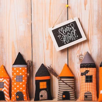 Halloweenowy mockup z łupkowym pojęciem