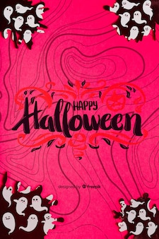 Halloweenowy pojęcia tło z duchami