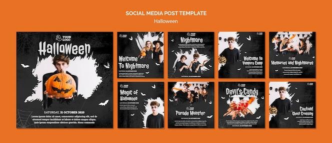 Halloweenowy post w mediach społecznościowych