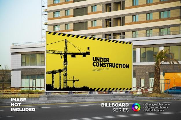 Handlowy wyświetlacz makiety billboardu na zewnątrz