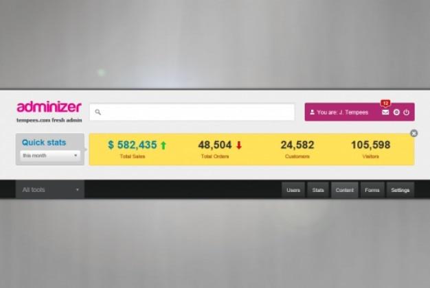 Header podawanie z widgetu statystycznej