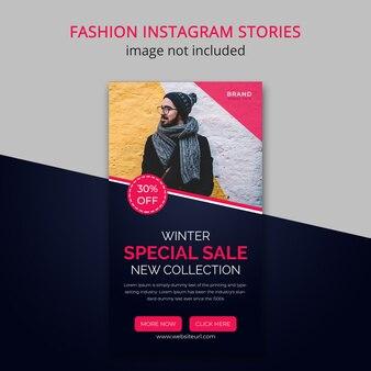 Historia instagramu z zimową modą