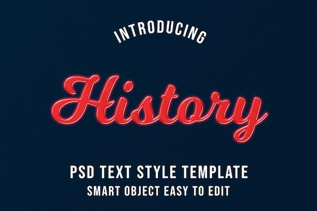 Historia - makieta efektów premium 3d