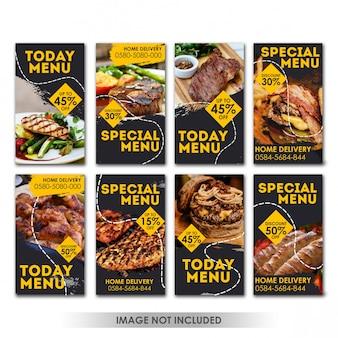 Historia media społecznościowe post food grill