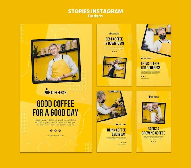 Historie barista na instagramie