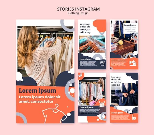 Historie na instagramie dla sklepu z odzieżą