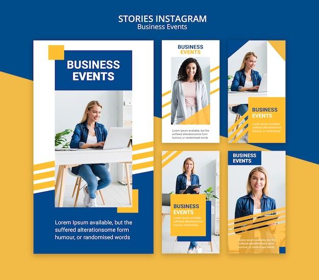 Historie na instagramie dla szablonu biznesowego