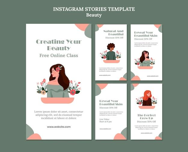 Historie na instagramie dotyczące sprzedaży piękna
