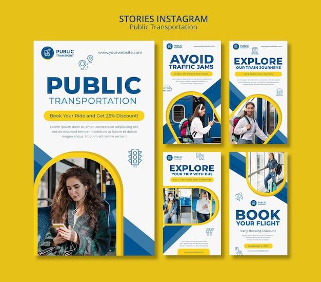 Historie na instagramie dotyczące transportu publicznego