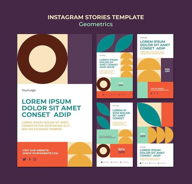 Historie na instagramie geometrics