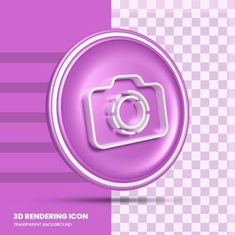 Historie na instagramie ikona renderowania 3d w mediach społecznościowych