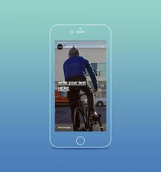 Historie na instagramie na smartfonie