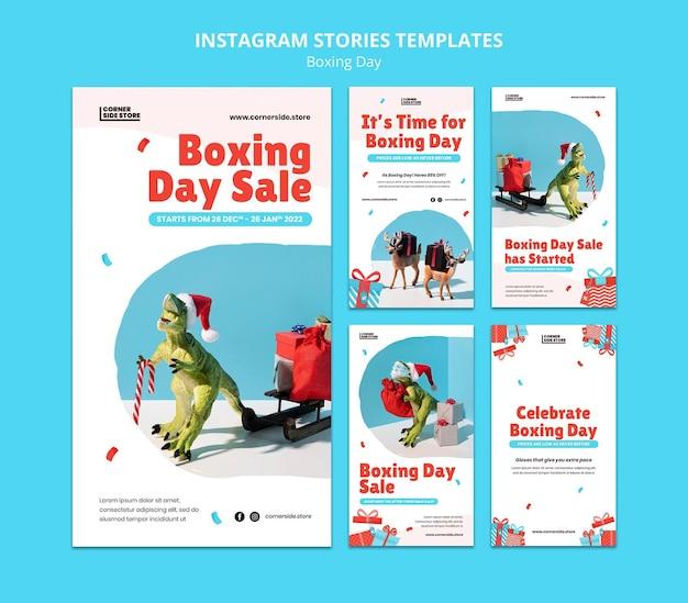 Historie na instagramie o wyprzedaży w boxing day