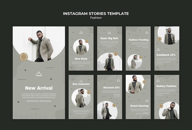 Historie na instagramie szablon sklepu mody