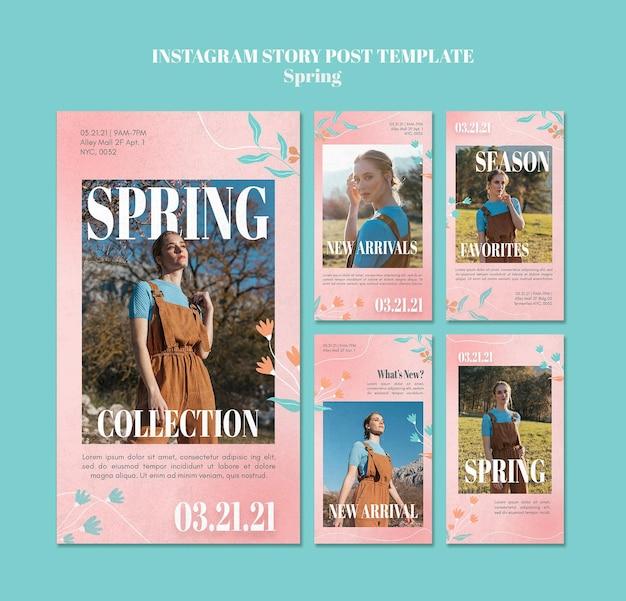 Historie na instagramie wiosennej sprzedaży
