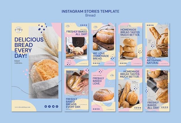 Historie na instagramie z chlebem