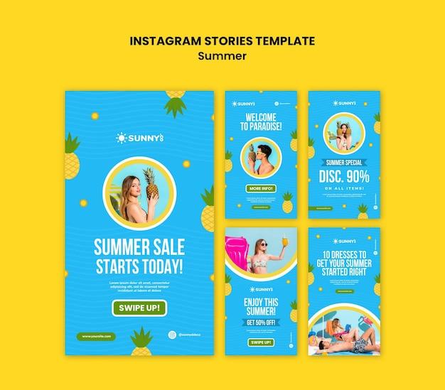 Historie na instagramie z letnią wyprzedażą