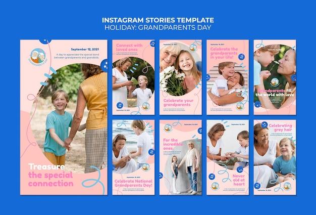 Historie na instagramie z okazji dnia babci i dziadka