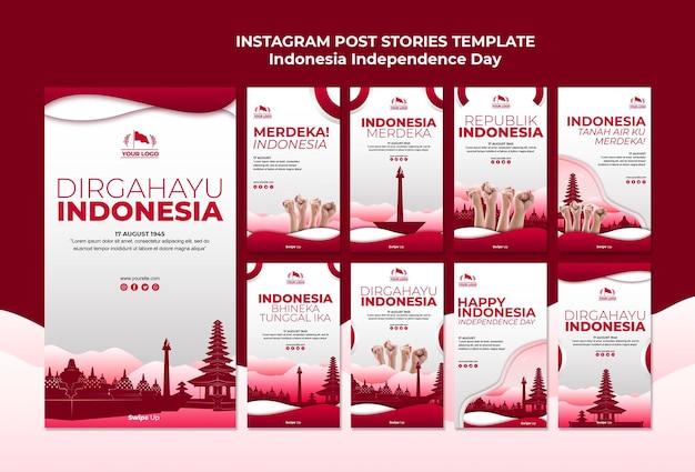 Historie na instagramie z okazji dnia niepodległości indonezji