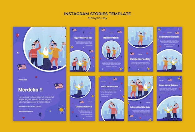 Historie na instagramie z okazji dnia niepodległości malezji