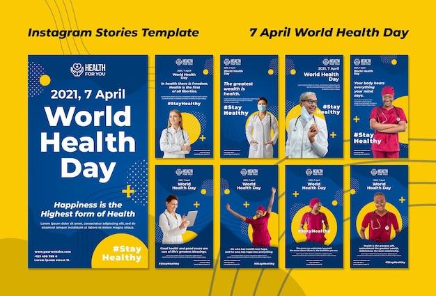 Historie na instagramie ze światowego dnia zdrowia