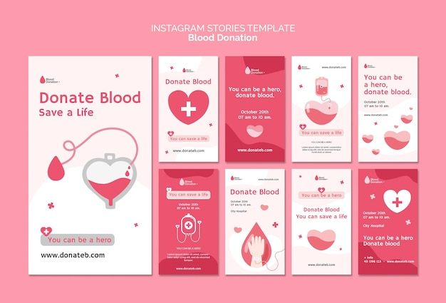 Historie w mediach społecznościowych o oddawaniu krwi