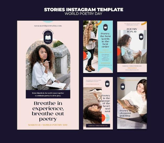 Historie w mediach społecznościowych z okazji dnia poezji