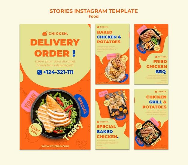 Historie w mediach społecznościowych z zamówieniem dostawy