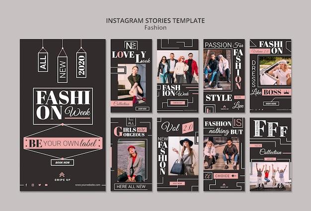 Historie z instagram tydzień mody