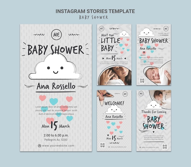Historie z mediów społecznościowych baby shower