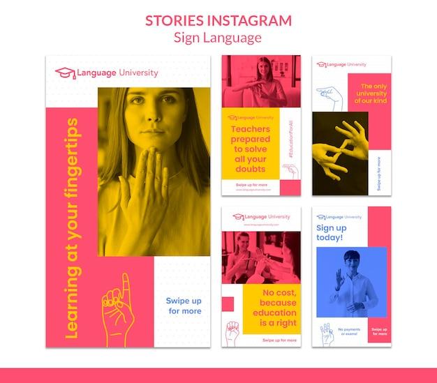 Historie z mediów społecznościowych w języku migowym