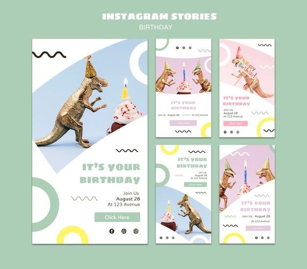 Historie z okazji urodzin na instagramie
