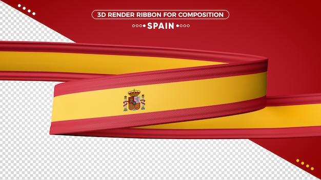 Hiszpania 3d render wstążki do składu