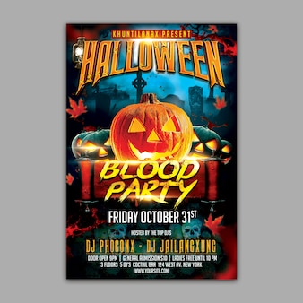 Holloween party mockup