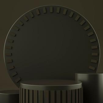 Holograficzna geometryczna scena 3d do lokowania produktu z tłem
