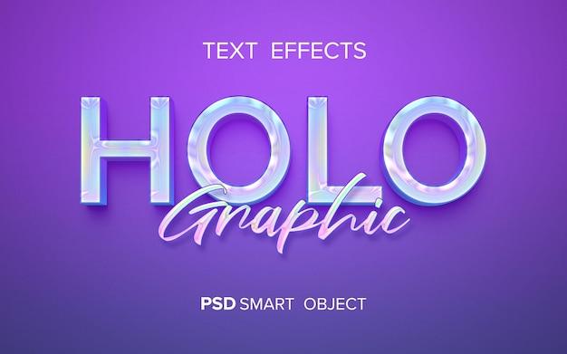 Holograficzny efekt tekstowy