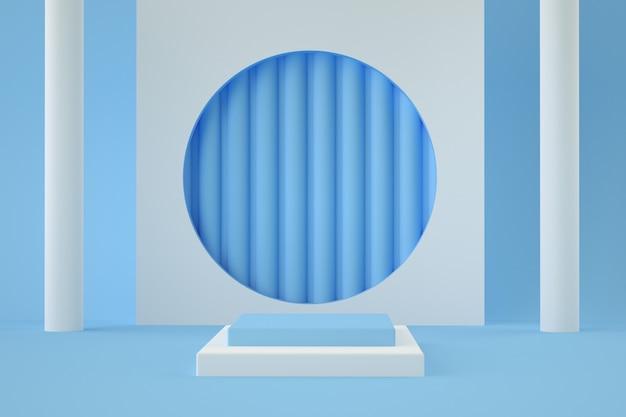 Holograficzny etap geometryczny 3d do lokowania produktu