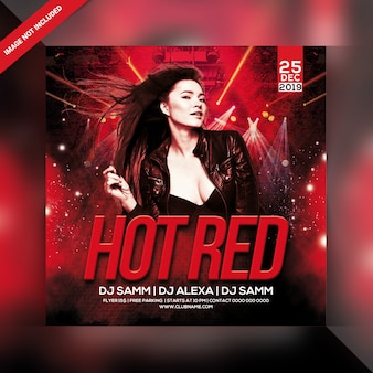 Hot red party flyer