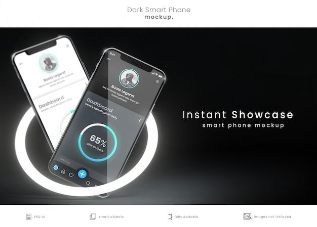 Idealna makieta smartfona w pikselach