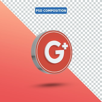 Ikona 3d logo google plus