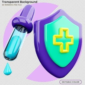 Ikona 3d szczepionka przeciwko koronawirusowi