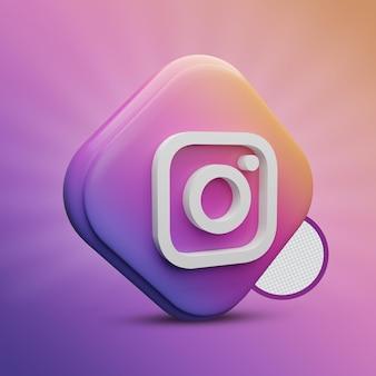 Ikona 3d tri prostokąt na instagramie
