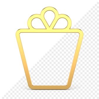 Ikona 3d w kształcie prezentu