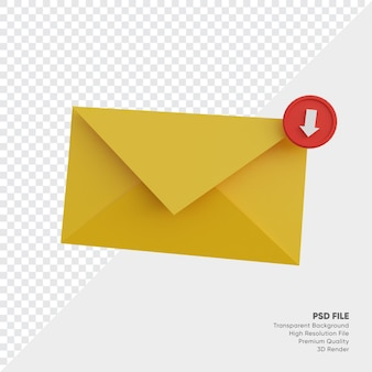Ikona 3d wiadomości w skrzynce odbiorczej