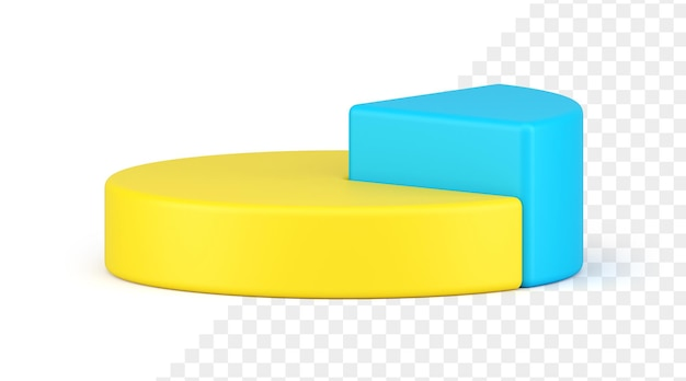 Ikona 3d wykres kołowy