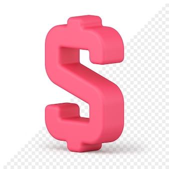 Ikona 3d znak dolara