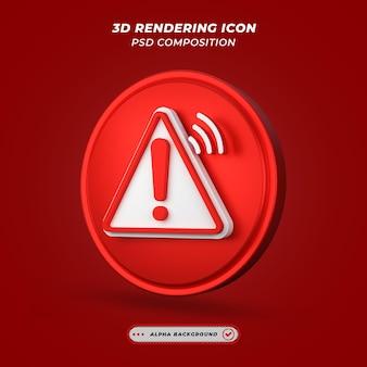 Ikona alertu w renderowaniu 3d